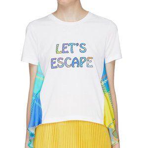 Mira Mikati Lets Escape Patch Check Plaid Shirt 40